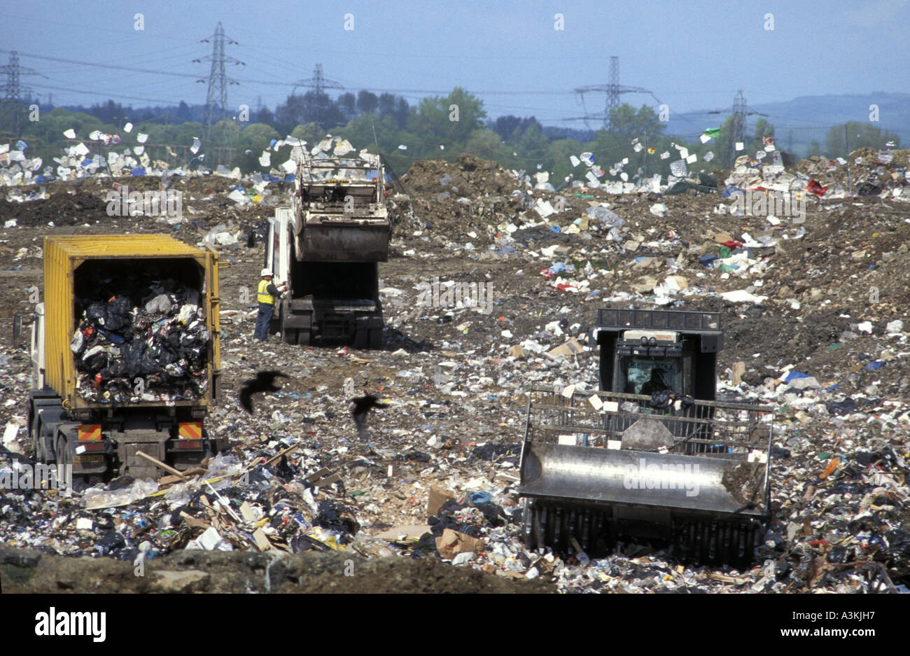 Hempsted landfill site near Gloucestershire England Stock Photo