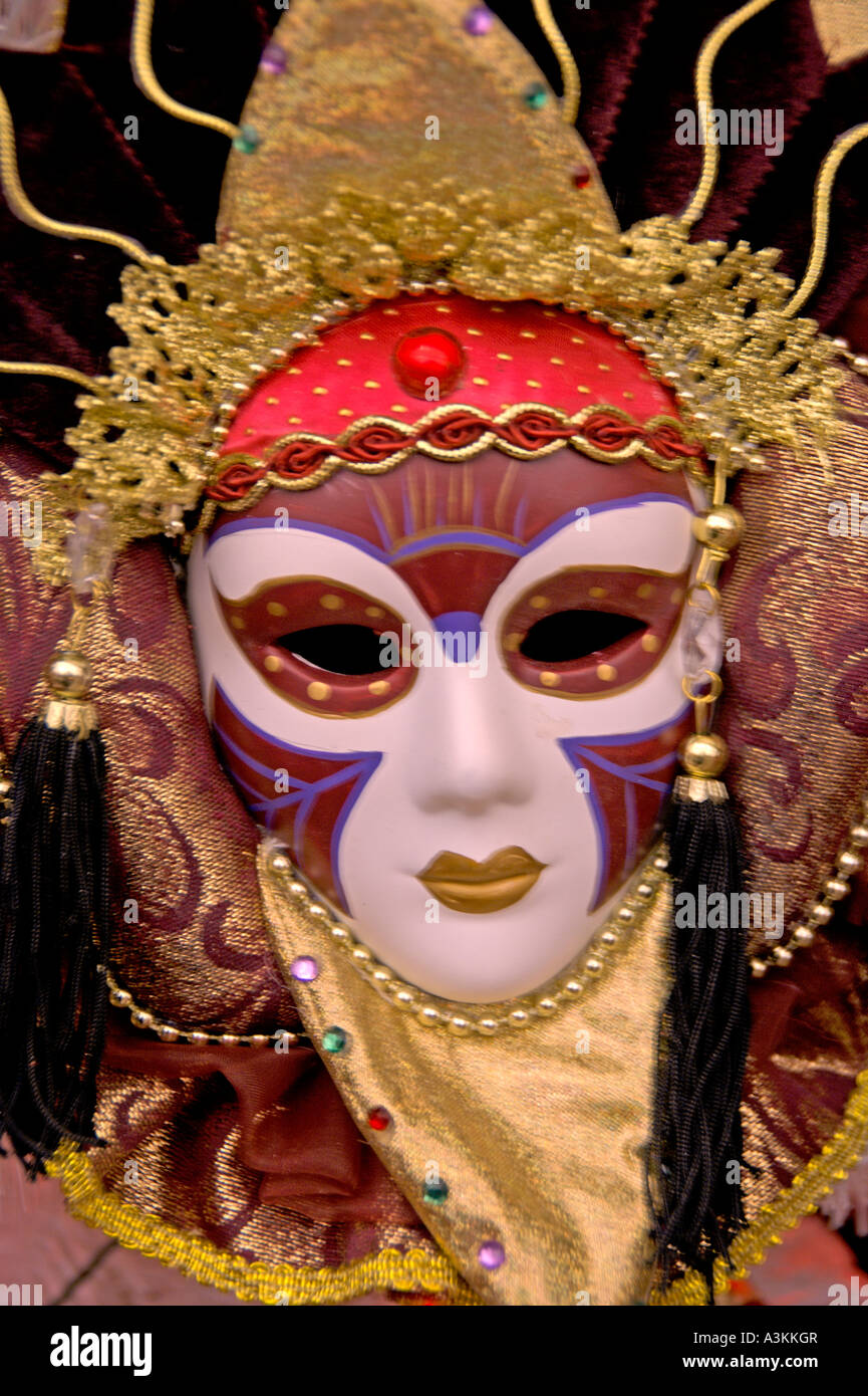 colourful Face mask January 2007 - Stock Image