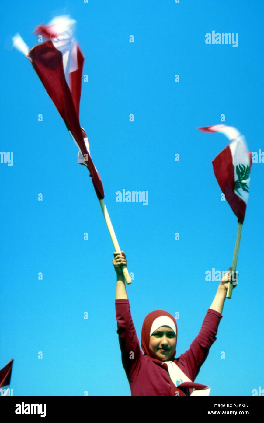 its freedom time of victory beirut lebanon Stock Photo