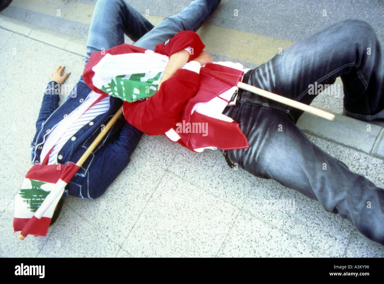 love story beirut lebanon - Stock Image