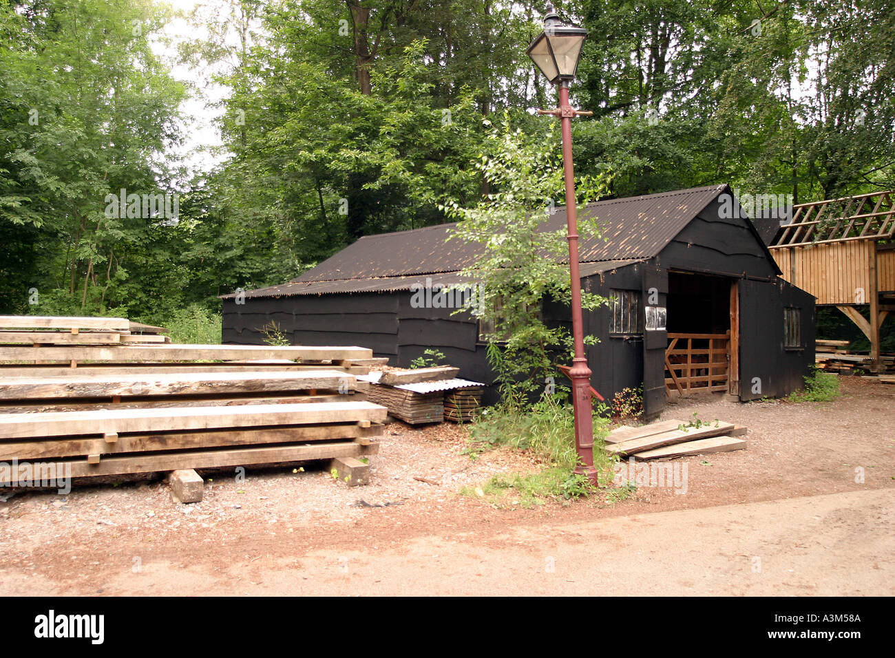Museum of Welsh Life Cardiff St Fagans Melin Lifio Ty n Rhos sawmill - Stock Image