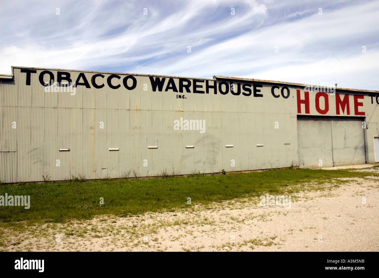 Tobacco warehouse - Stock Image