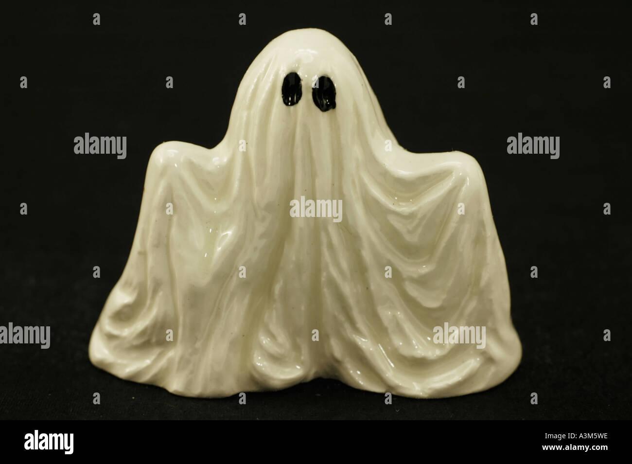 Small ceramic ghost - Stock Image