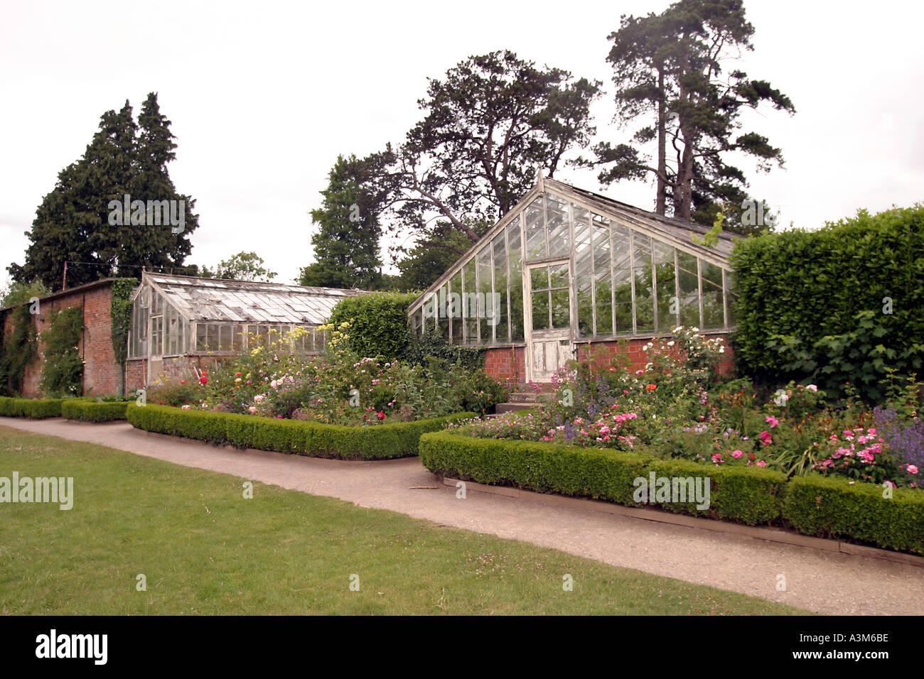 Museum of Welsh Life Cardiff St Fagans  Victorian Green house in the garden - Stock Image