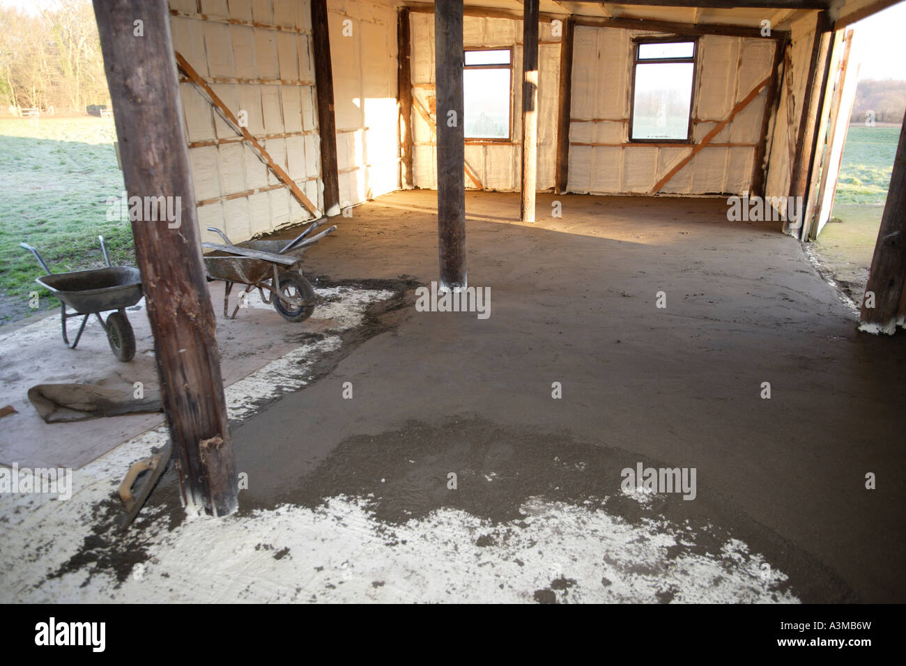 Cement Screed Floor Being Laid Stock Photo 10816704 Alamy
