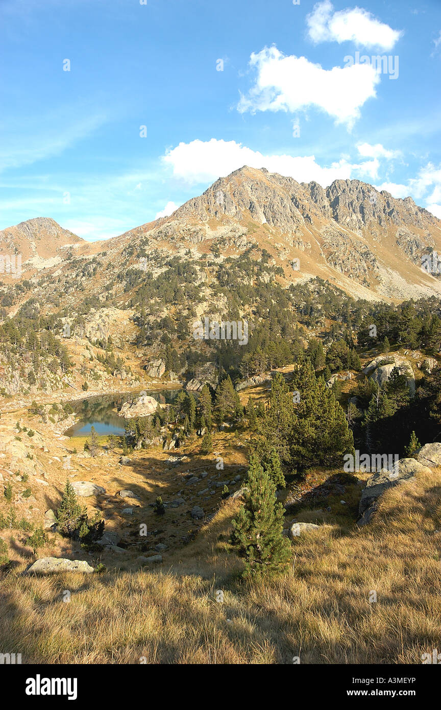 Colomers lakes landscape - Stock Image