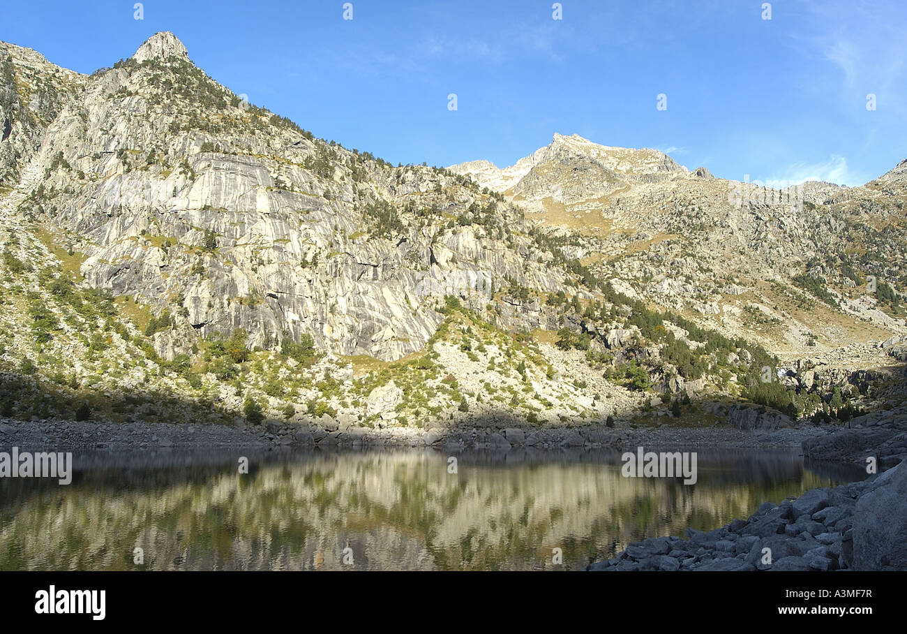 Estany de cavallers Lleida - Stock Image