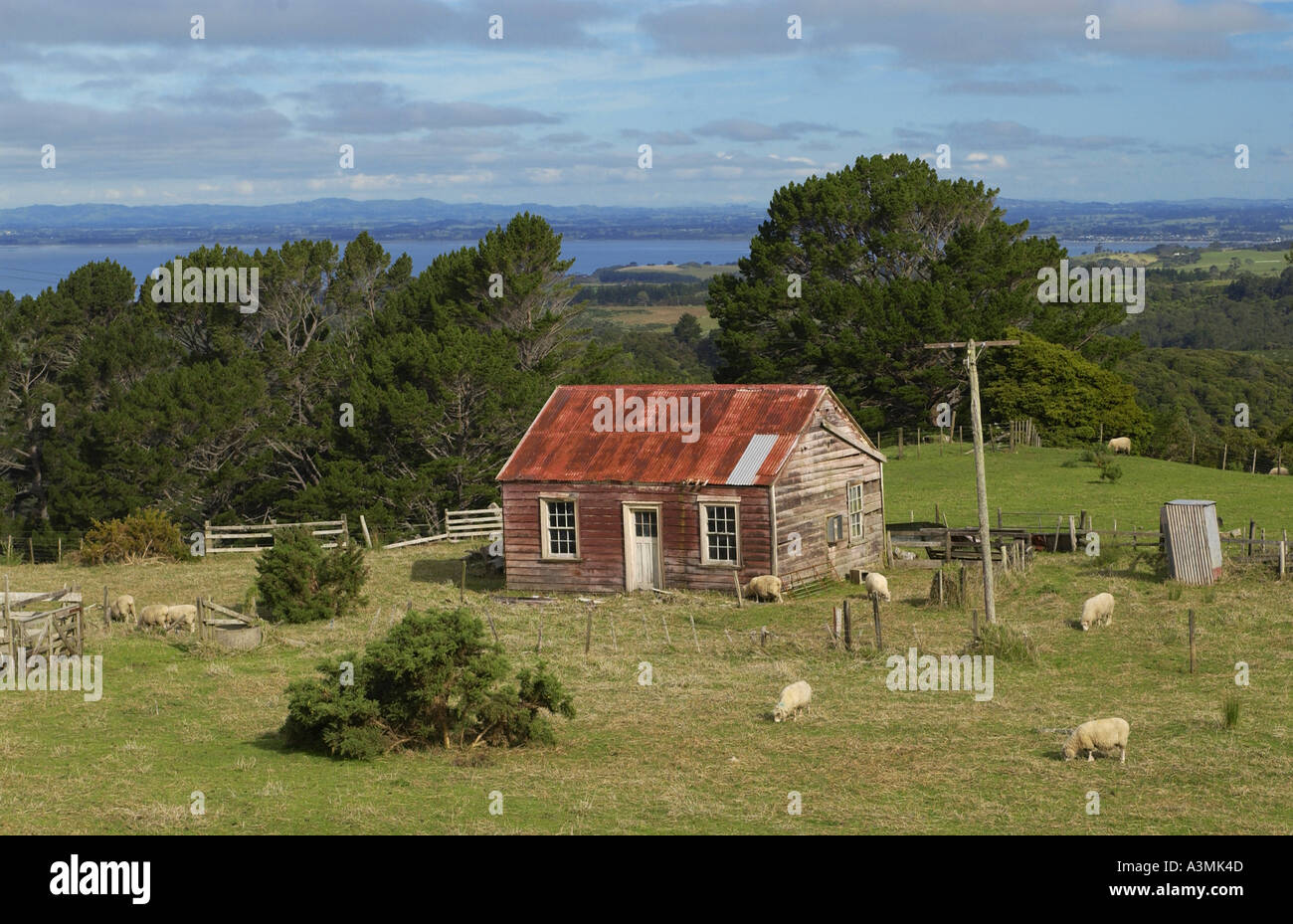 Traditional homestead with mailbox North Island New Zealand - Stock Image