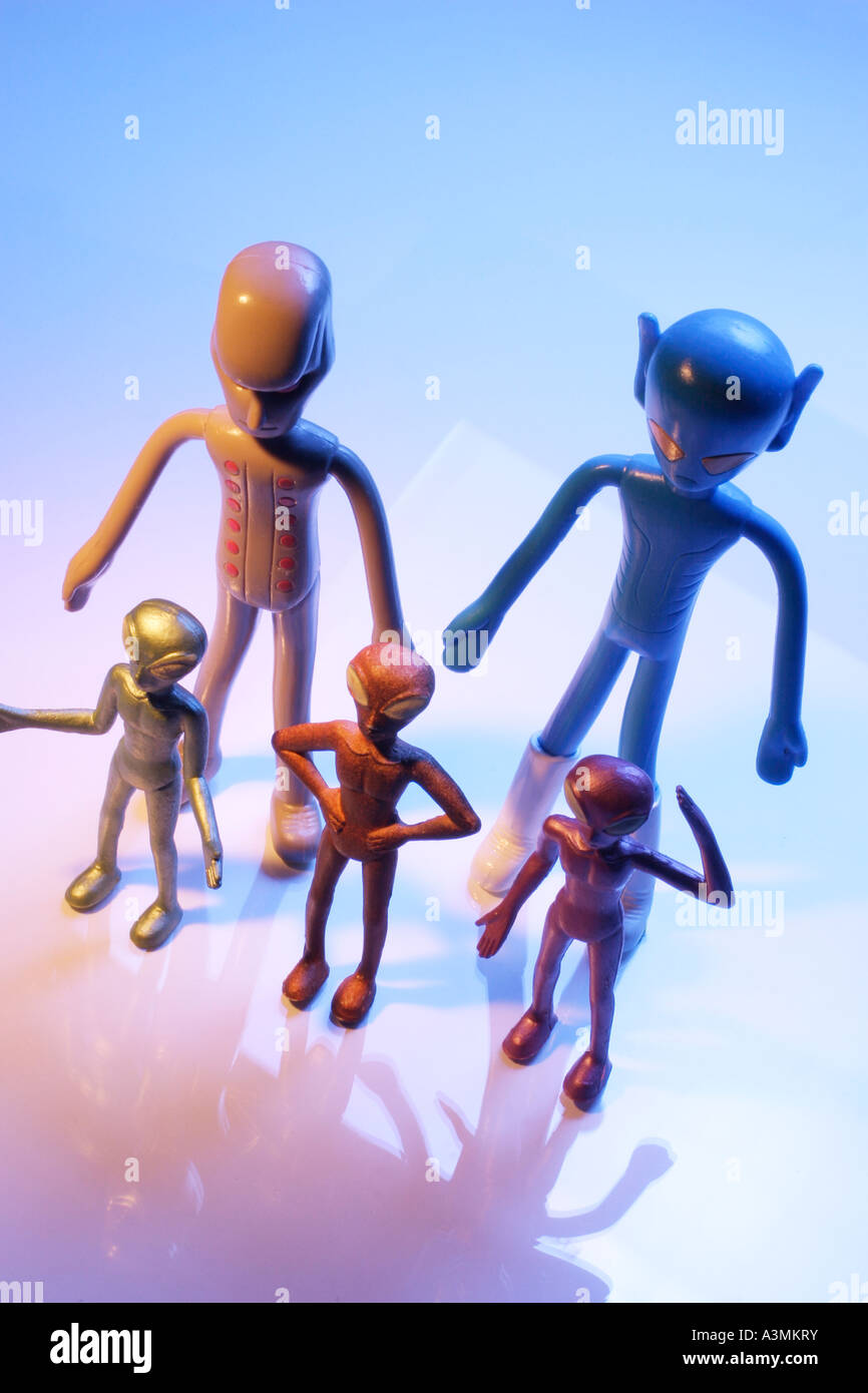 Alien Figures - Stock Image