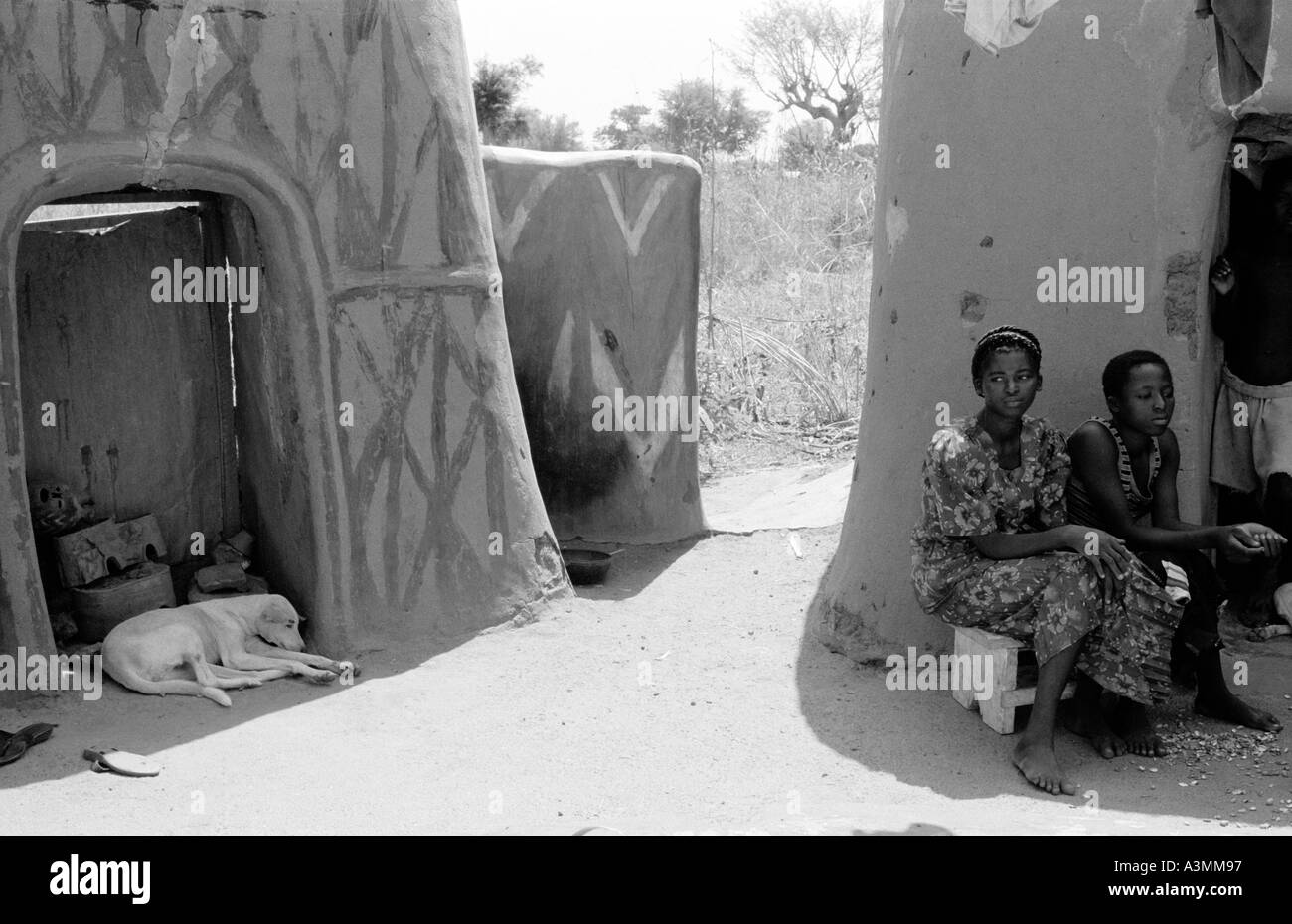 Village life in Northern Ghana - Stock Image