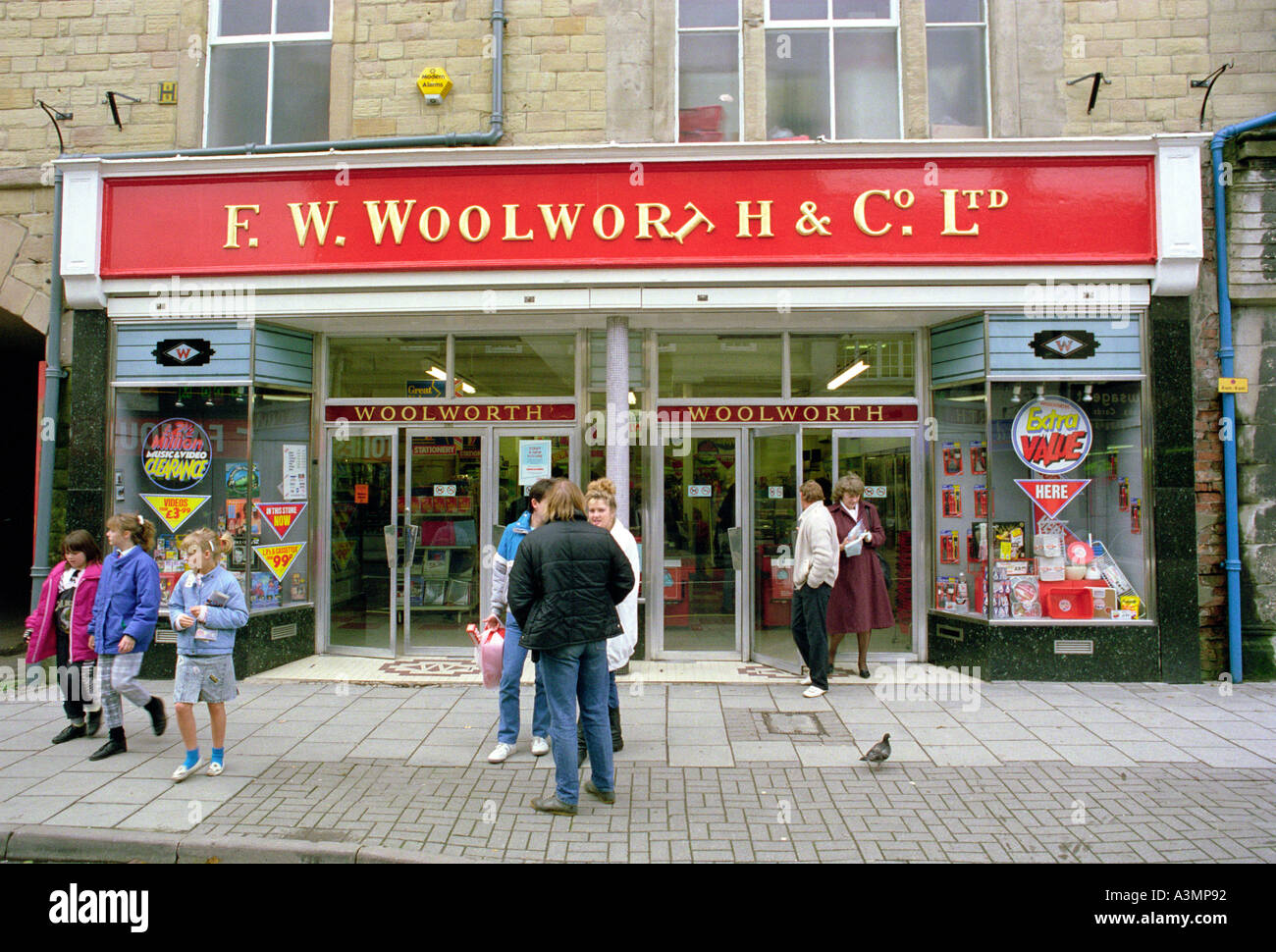 England Derbyshire Buxton shops F W Woolworth store before modernisation Stock Photo