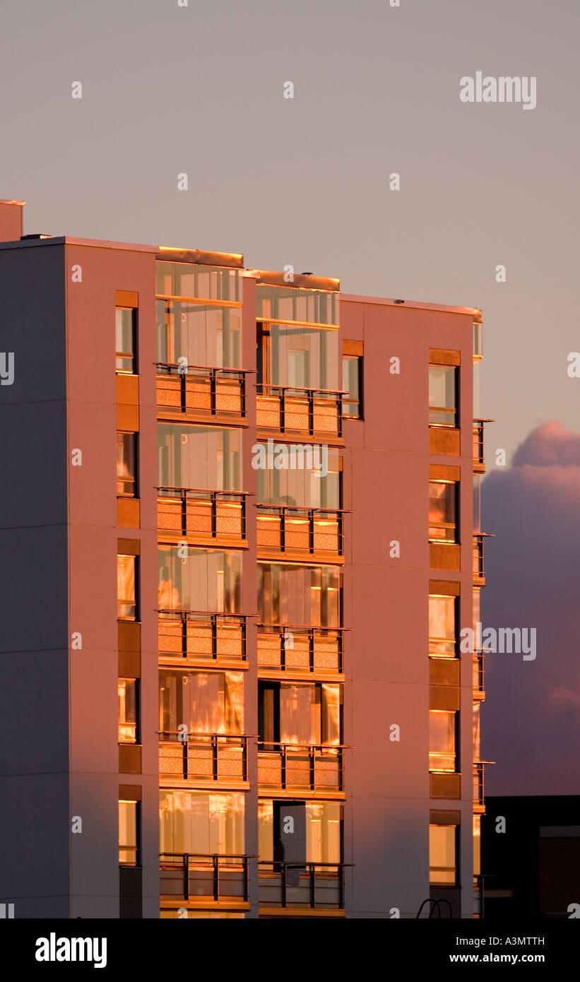 High Rise Colourful Block Apartment Stock Photos Amp High