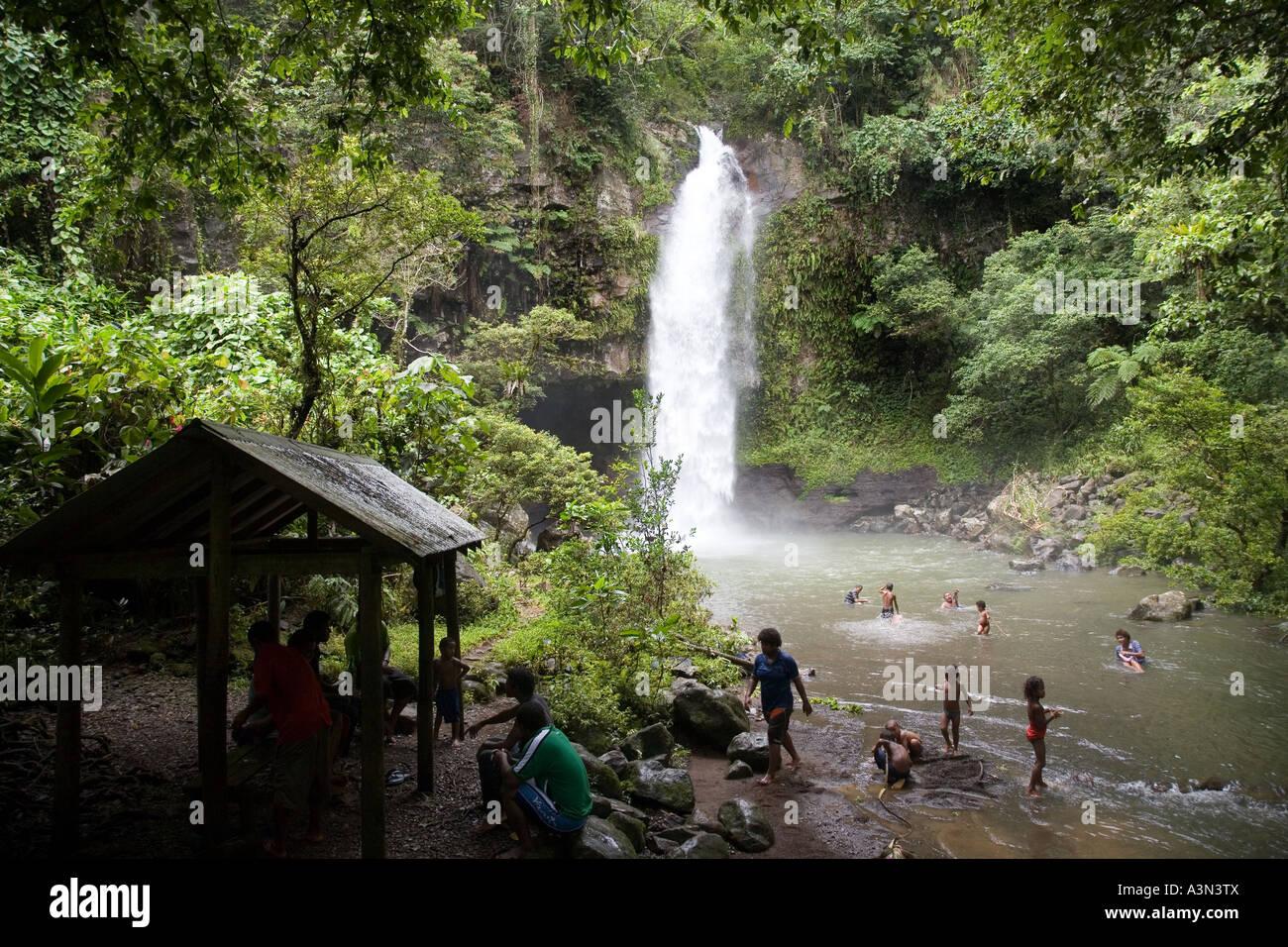 Bouma Falls Island Of Taveuni Fiji Melanesia South Pacific