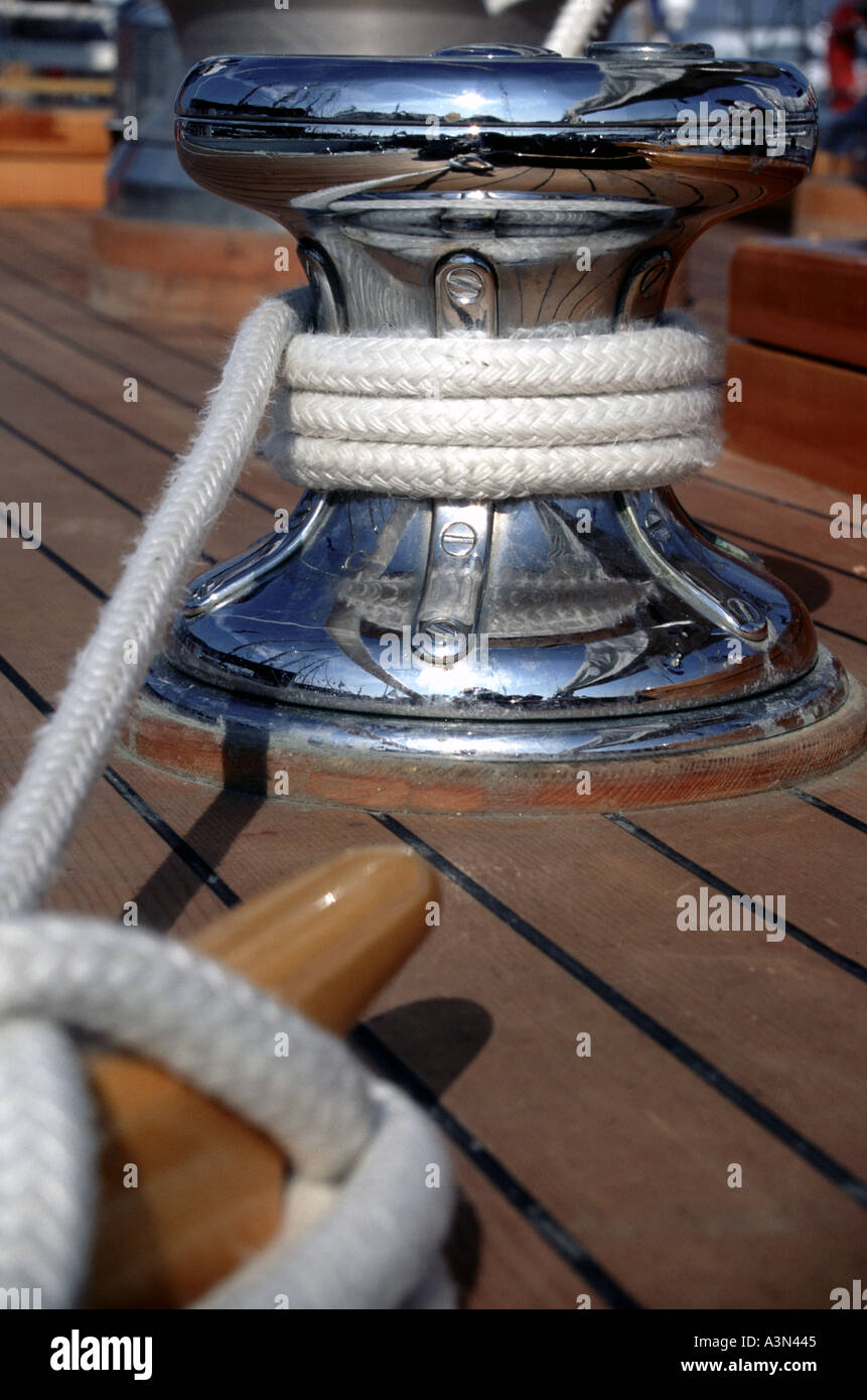 Warp on Winch Detail Classic - Stock Image