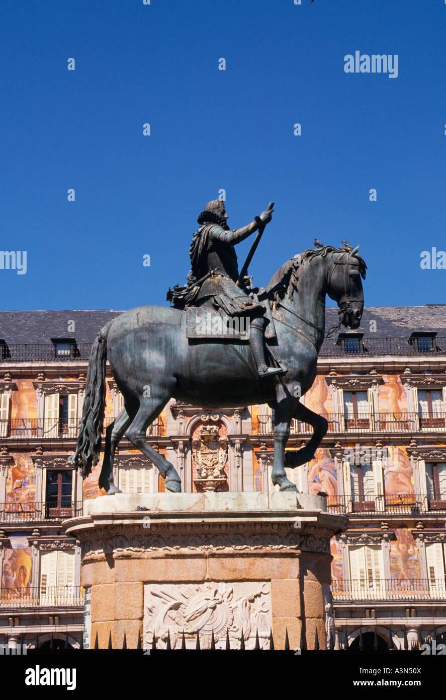 Europe Spain Madrid The Plaza Mayor Castile - Stock Image