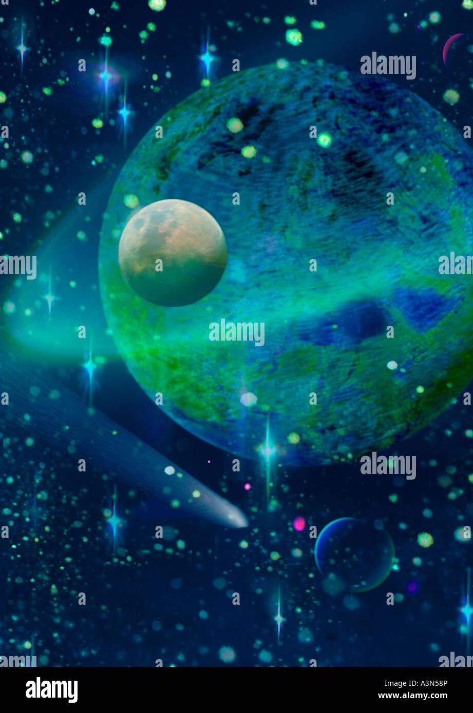 Space The Cosmos Sandra Baker - Stock Image