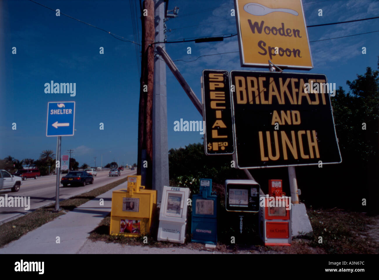 Wooden Spoon Diner Florida Keys Stock Photos Wooden Spoon Diner