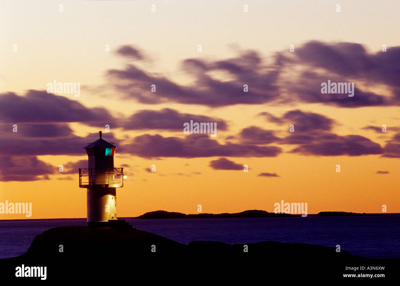Lighthouse . Marstrand , Bohuslan , Sweden Stock Photo