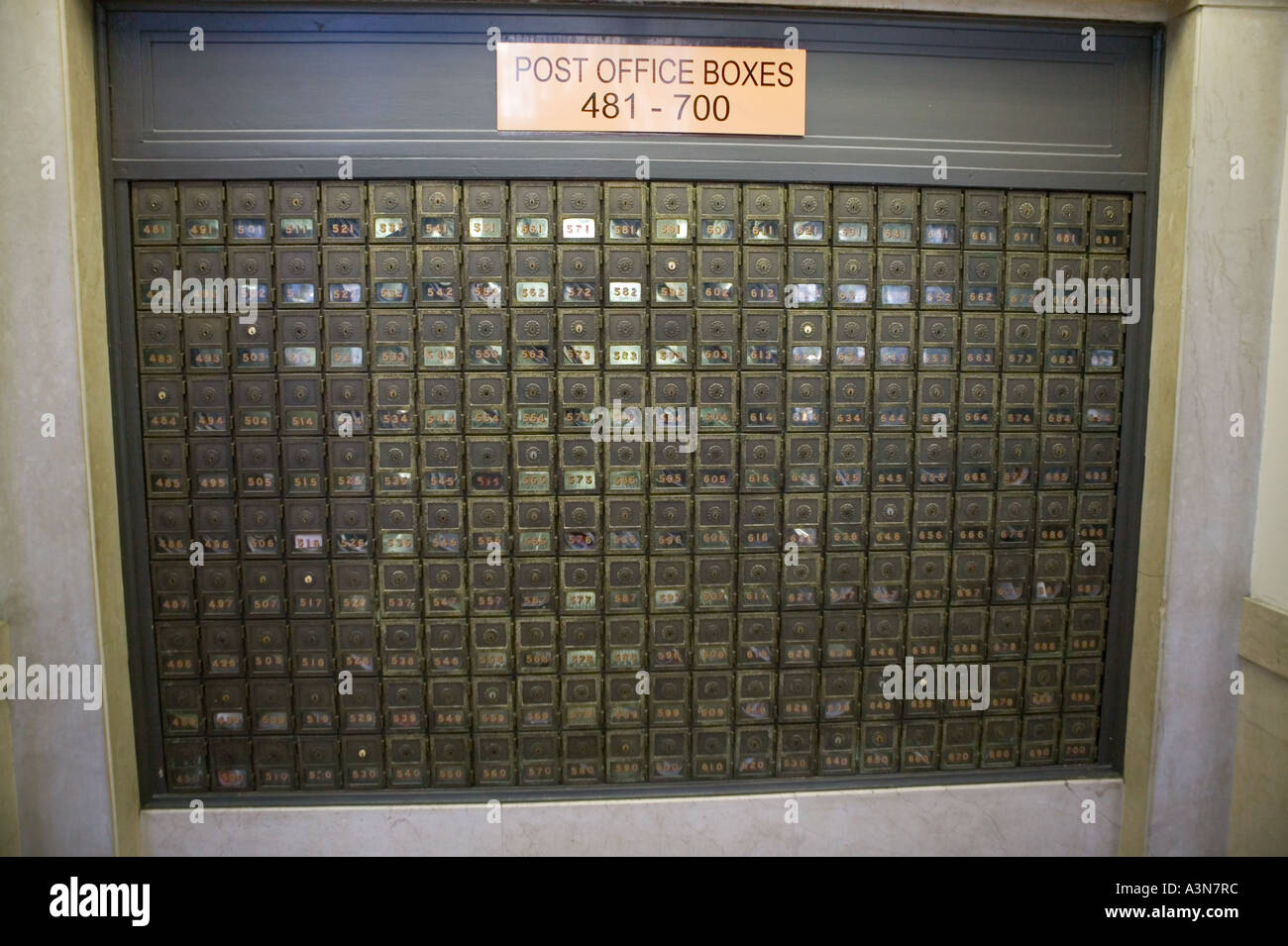 View Of Po Boxes At The James A Farley Post Office Building On 8th