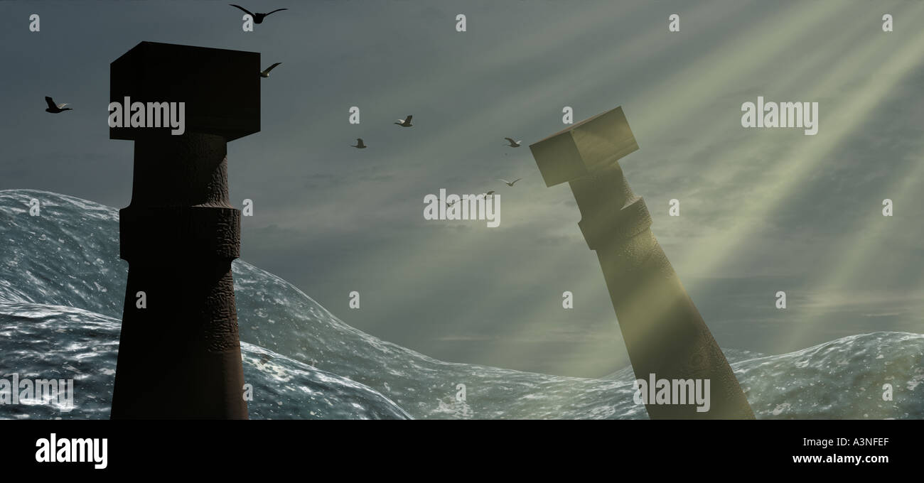 fall of atlantis - Stock Image