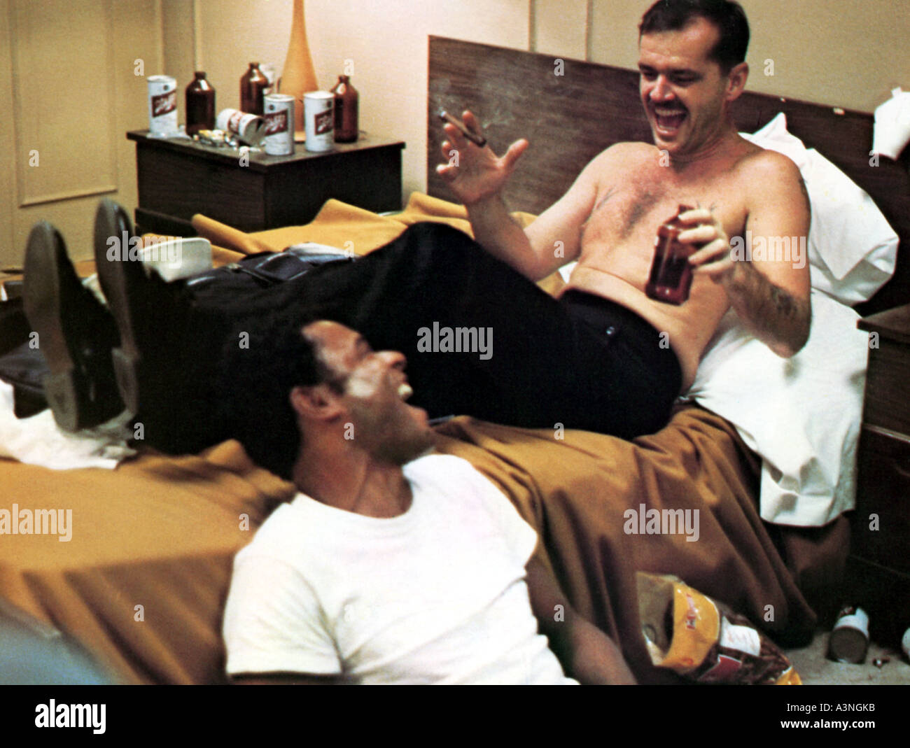 THE LAST DETAIL  Jack Nicholson at right in the 1987 Columbia film - Stock Image
