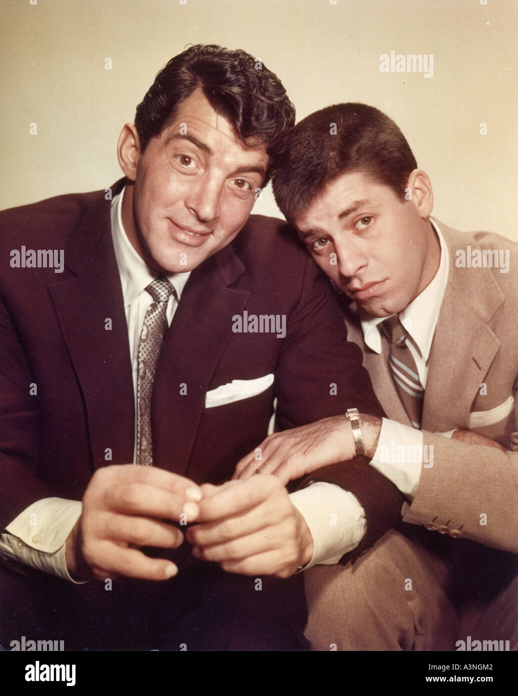 DEAN MARTIN left and Jerry Lewis - Stock Image