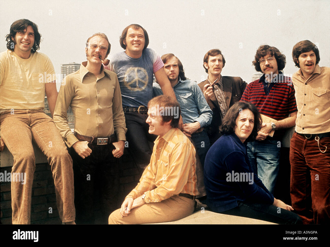BLOOD SWEAT AND TEARS American Canadian group in 1969 Stock Photo - Alamy
