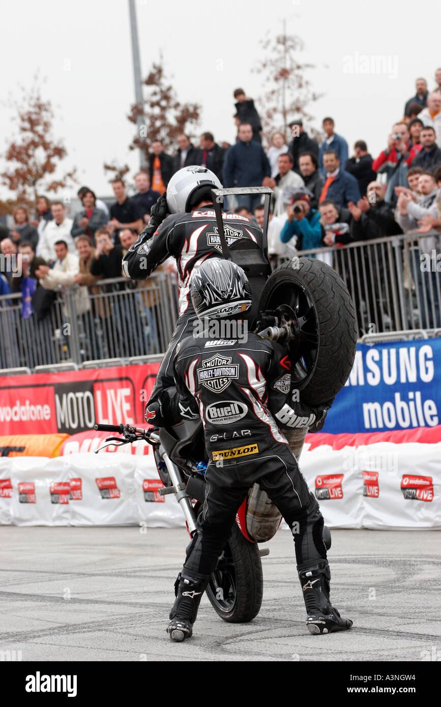 Stuntman in action Stock Photo