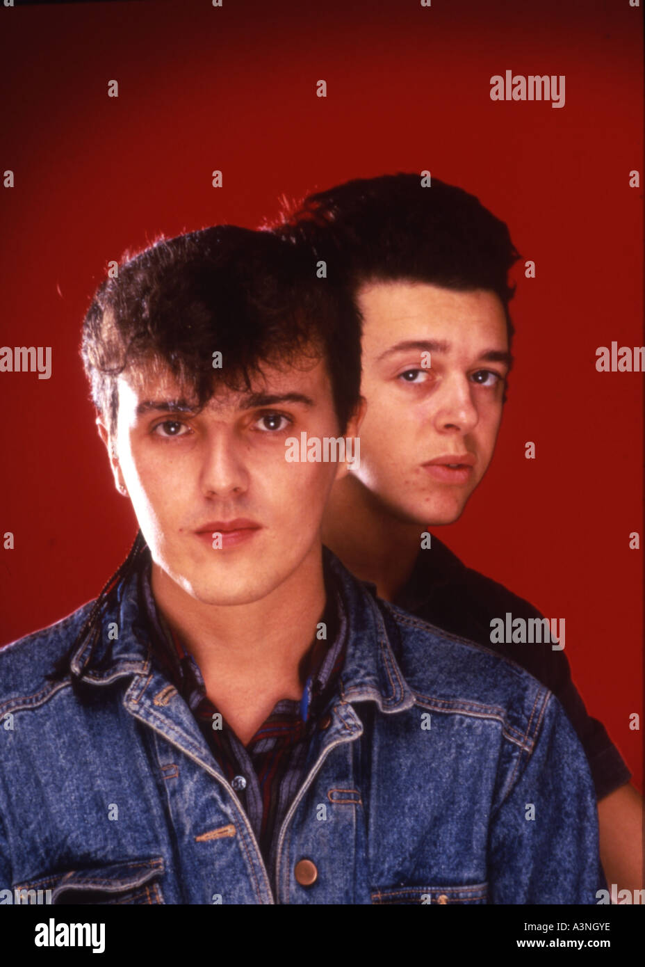 TEARS FOR FEARS UK 80s group with Curt Smith at left and Roland Orzabal - Stock Image