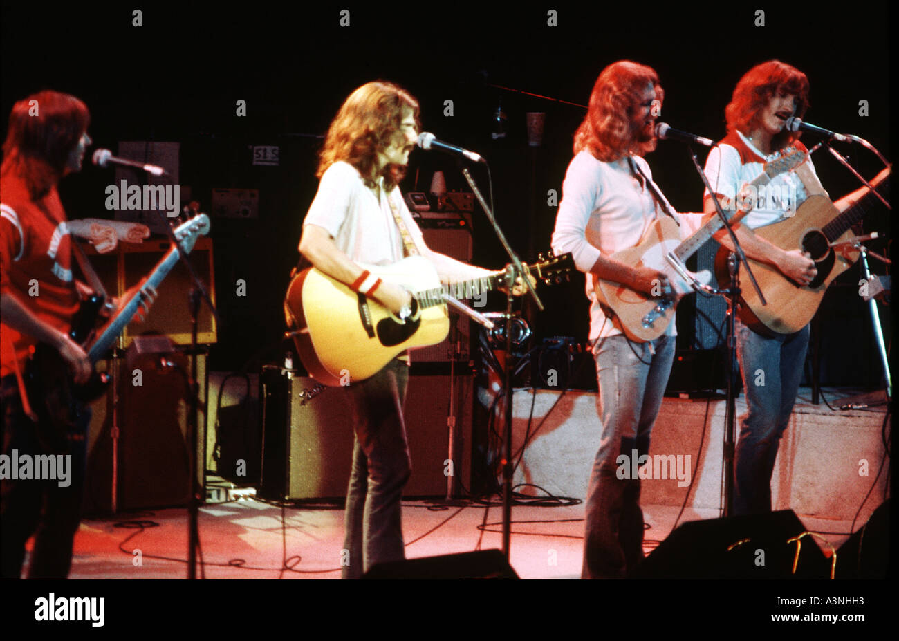 EAGLES US group in September 1976 with Joe Walsh third from right - Stock Image