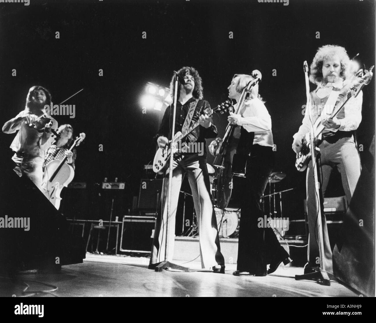 electric light orchestra uk group about 1973 stock photo 6187496