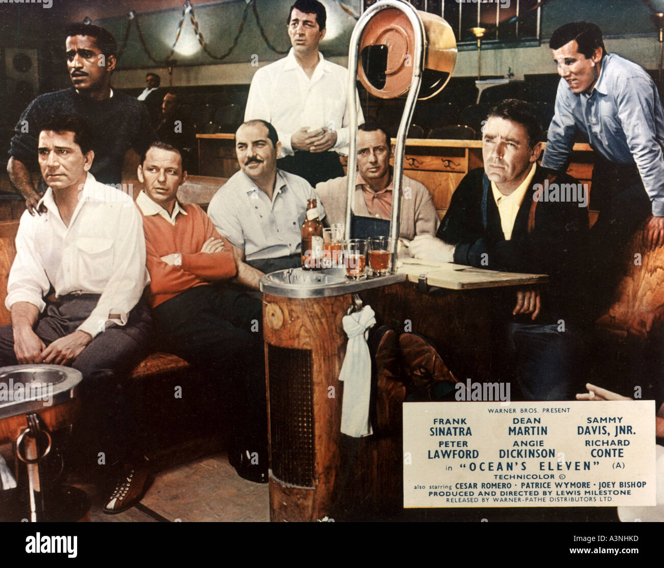 OCEAN S ELEVEN Warner Bros 1960 film starring the Rat Pack - Stock Image