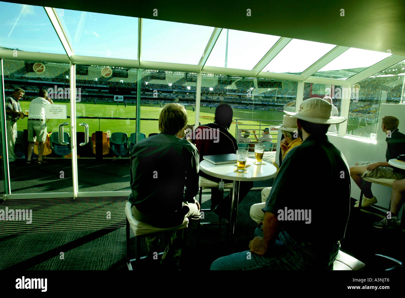 Members bar at the Gabba in Brisbane - Stock Image