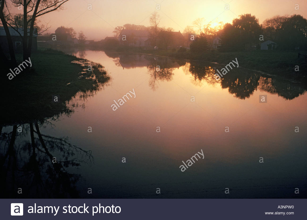 Millpond in Prince Edward County in Ontario Canada - Stock Image