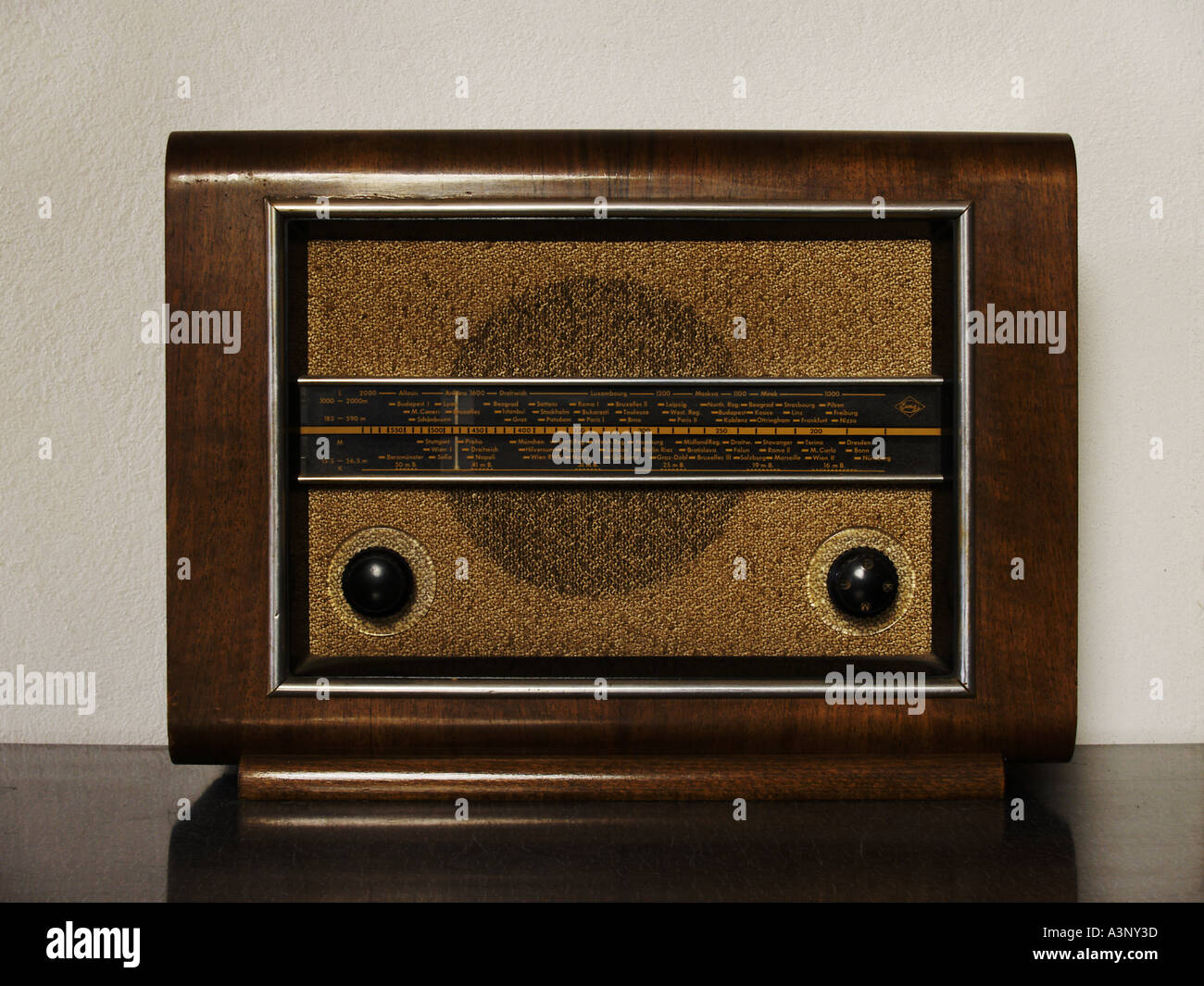 old radio set - Stock Image