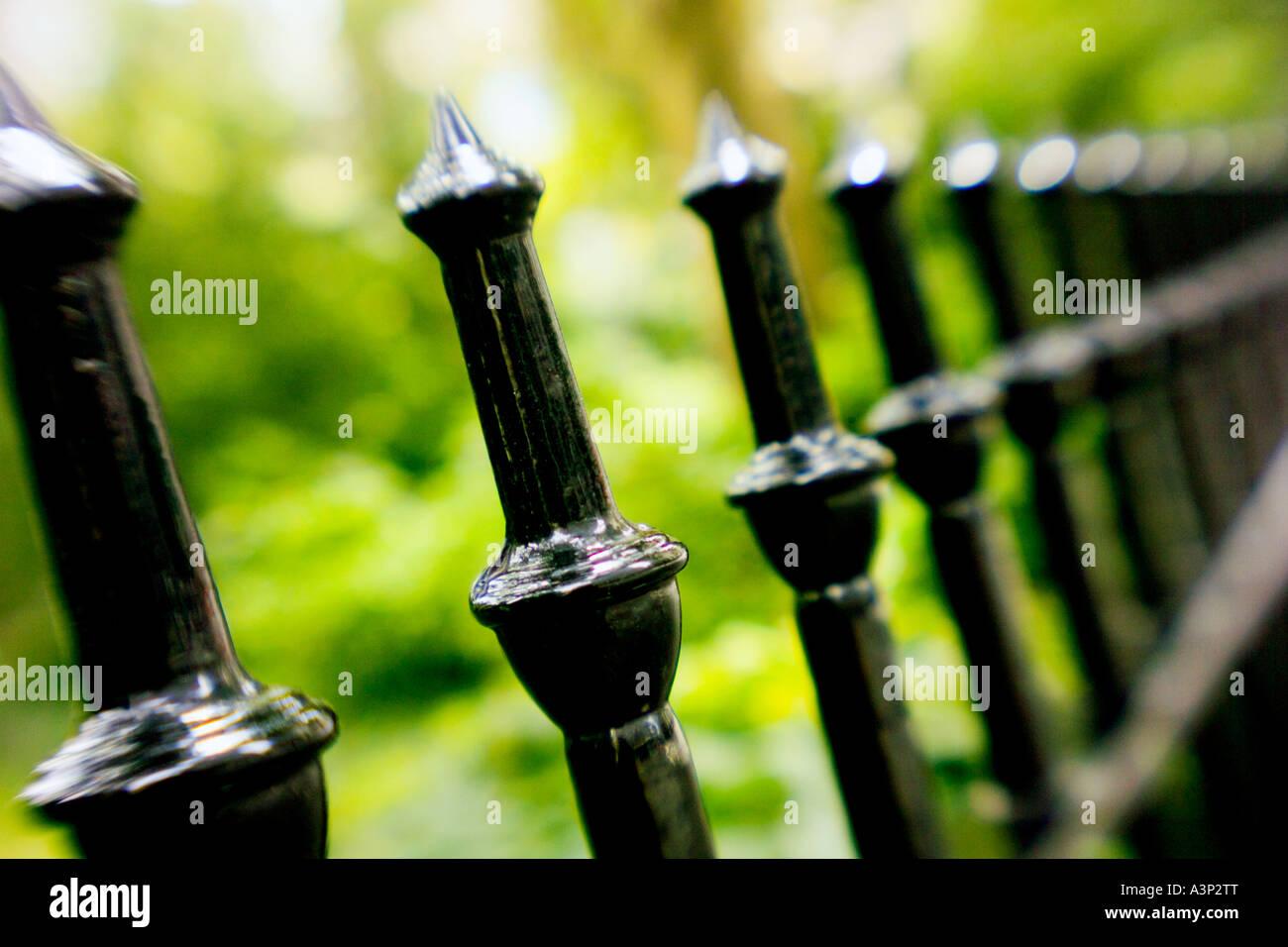 Fence horizontal - Stock Image