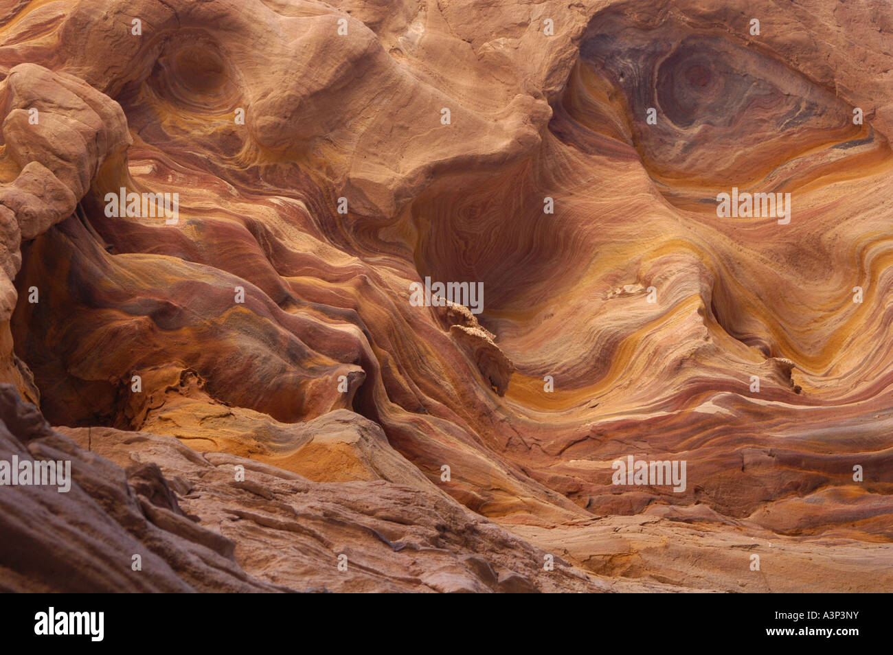The Coloured Canyon near Nuweiba on the Sinai Peninsula, Egypt - Stock Image