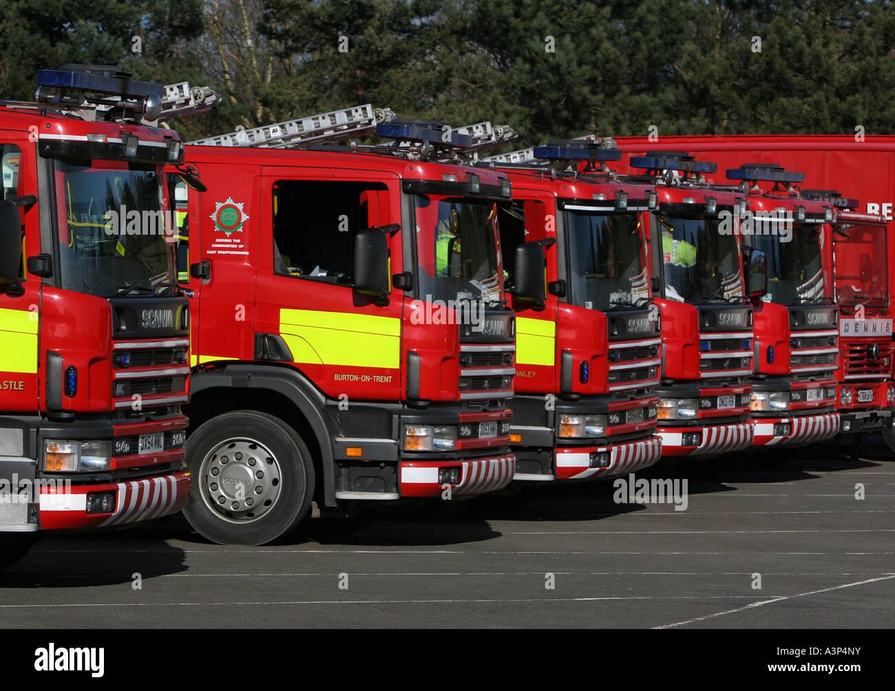 UK fire engines - Stock Image
