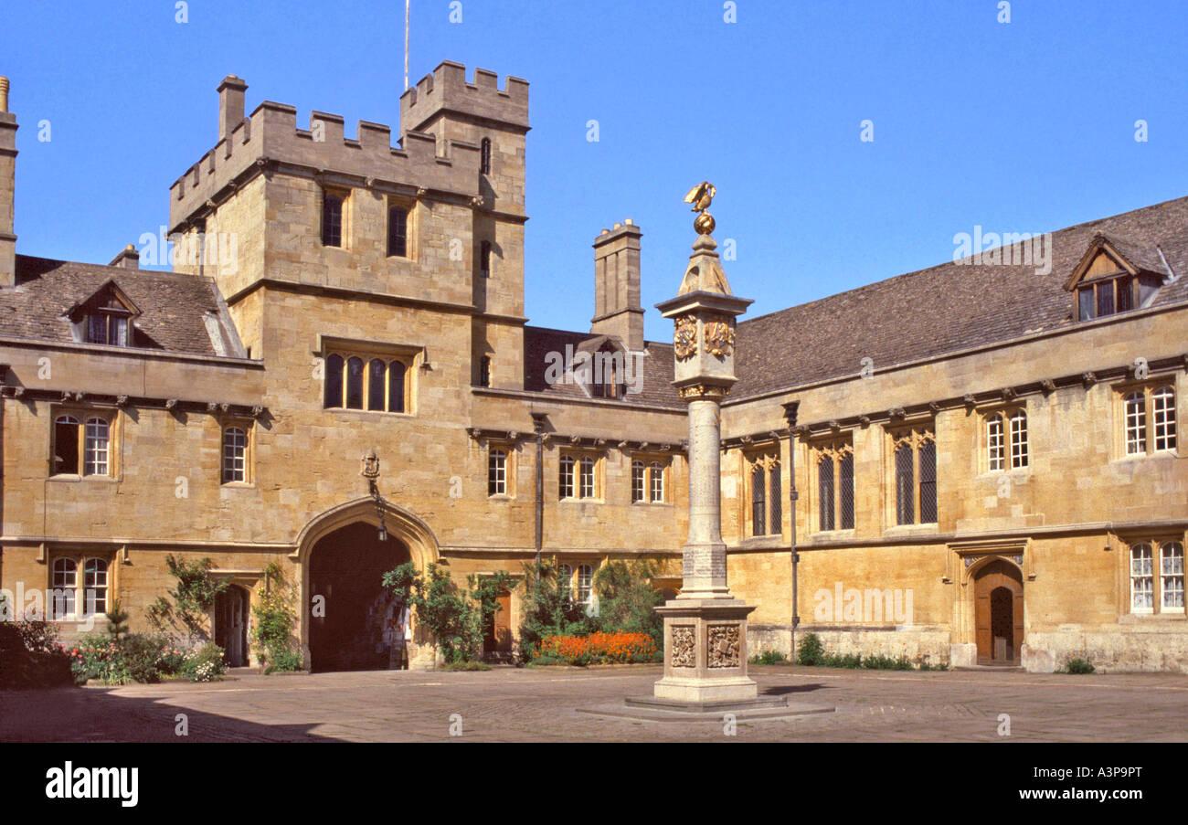Main Quad, Corpus Christi College, Oxford, Oxfordshire, UK - Stock Image