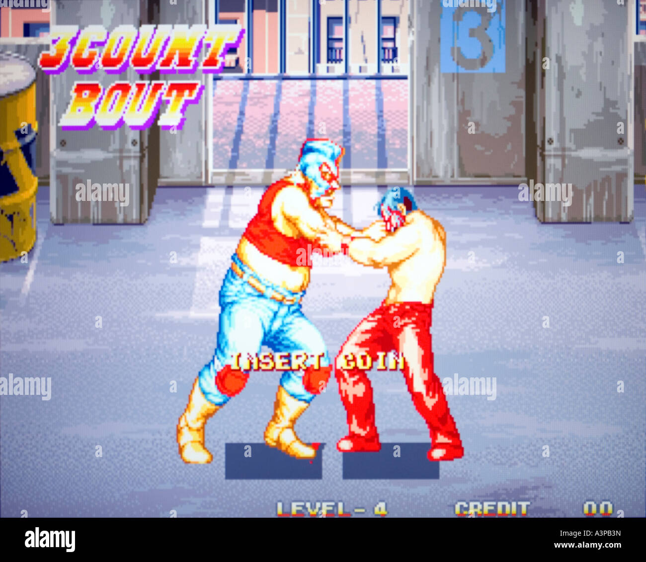 3 Count Bout SNK Corp 1993 vintage arcade videogame screenshot EDITORIAL USE ONLY - Stock Image