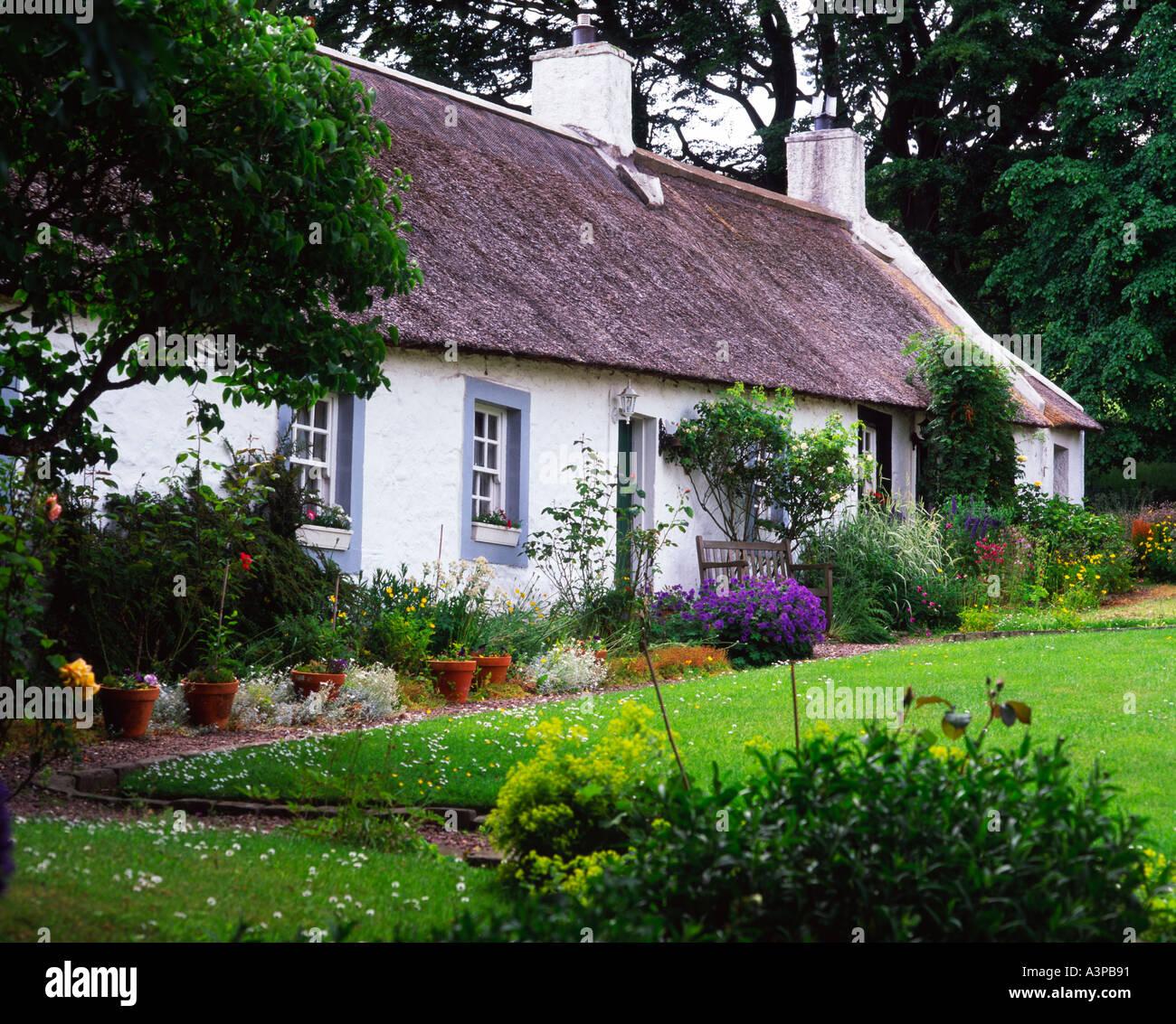 thatched cottages swanston village edinburgh scotland stock photo rh alamy com