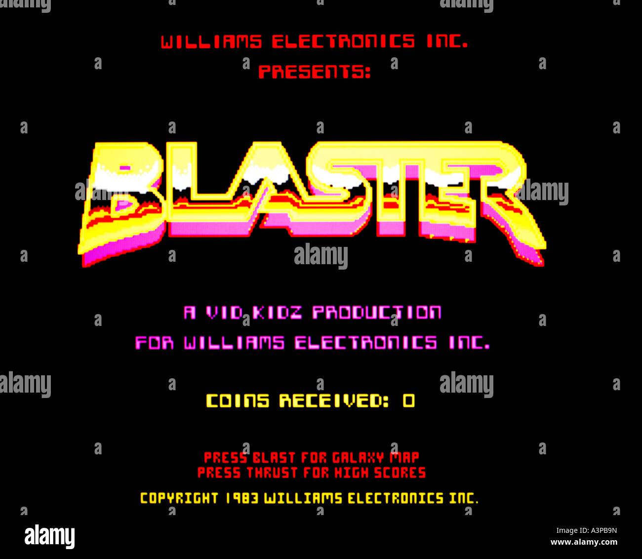 Blaster Williams Electronics Ltd 1983 vintage arcade