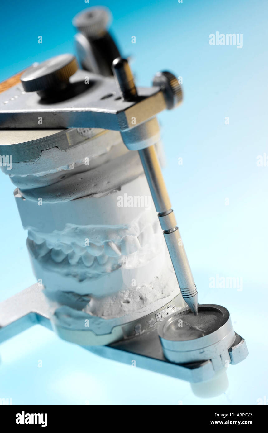 manufacture of denture Stock Photo