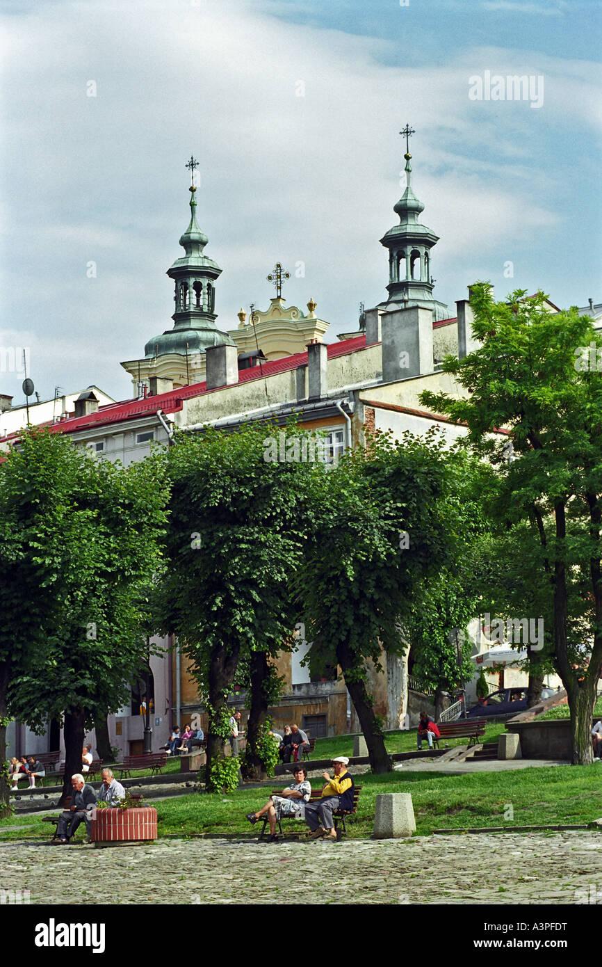 A church in the center of Przemysl, Poland Stock Photo