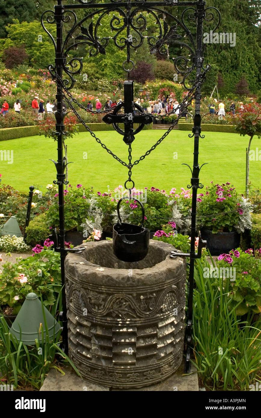 canada british columbia victoria butchart gardens wishing well