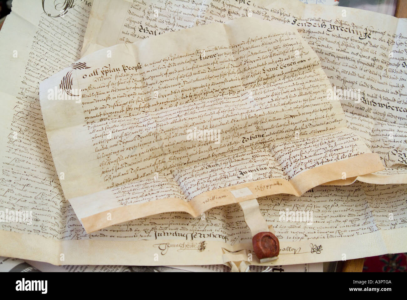 An old English will from the time of King Charles the first
