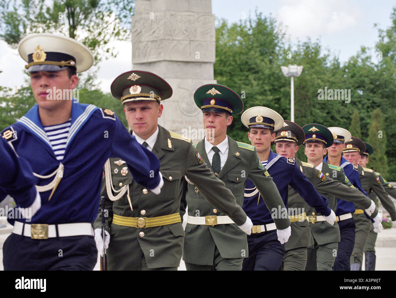 Guard of honour of the Russian Army, Kaliningrad, Russia - Stock Image