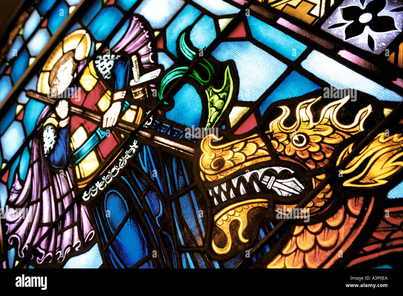 st george slaying a dragon stock photos st george slaying a dragon stock images alamy. Black Bedroom Furniture Sets. Home Design Ideas