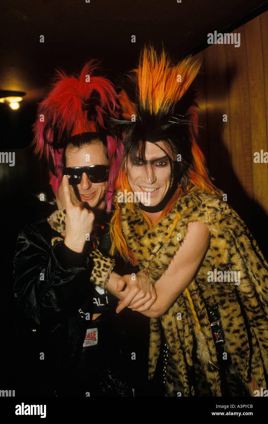 Tony James musician lead singer with punk rock band 'Sigue Sigue Sputnik' 'Martin Degville' HOMER SYKES - Stock Image
