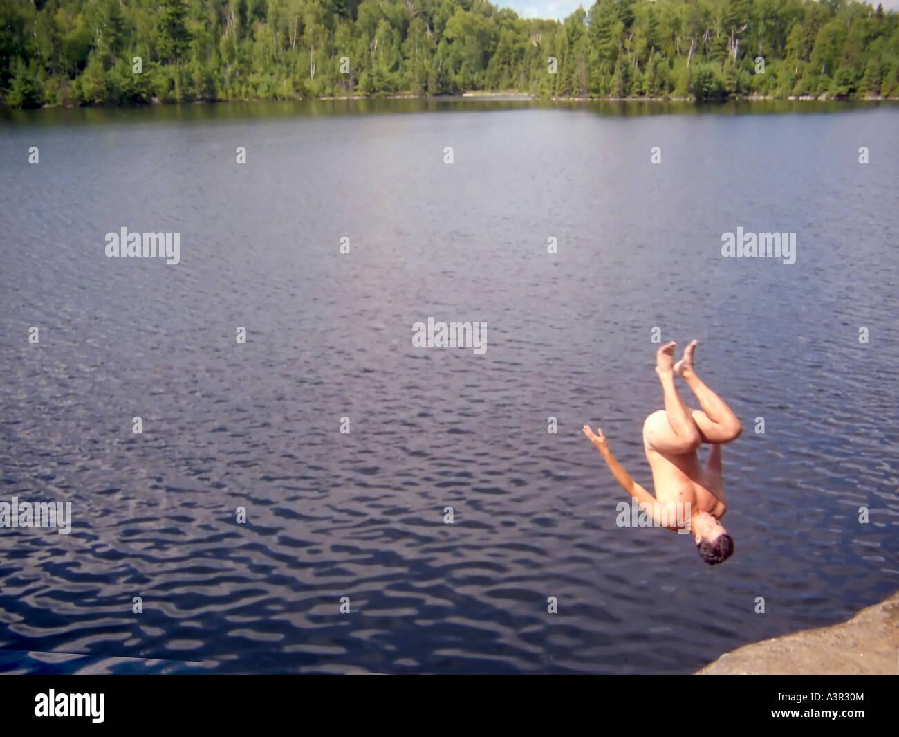 Guys skinny dipping